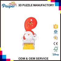 Wholesale educational toys 3d paper puzzle christmas ornaments