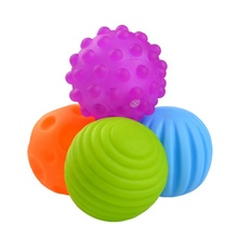 4 Pack Durable Soft & Textured Multi Sensory Ball Set for Babies Toddlers
