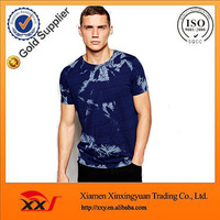 guangzhou factories wholesale tie dye acid wash Indigo t shirts high quality organic t shirt MEN T SHIRT