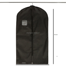 "44"" Non woven Garment Bag Covers for Luggage, Dresses, Linens, Storage - Travel Suit Bag with Clear Window 019"