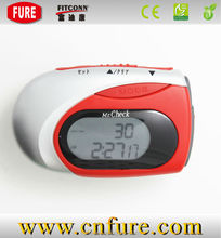 pedometer with heart rate monitor,multifunction peodometer step count
