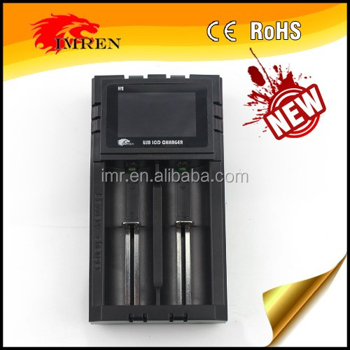 New product IMREN H2 LCD usb charger imren h2 charger for 18650 26650 li-ion battery