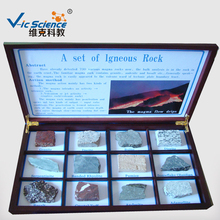 12 kinds igneous rock specimens for education or research of geology and petrology