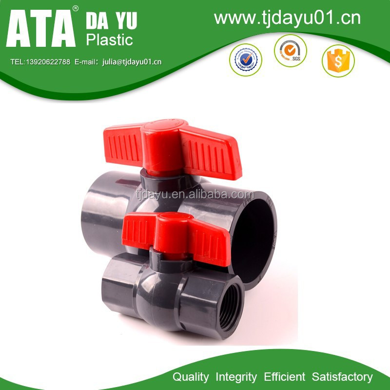 grey thread socket best price pvc octagonal compact valve balls
