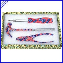 Printed floral multi function hand lady garden tool set