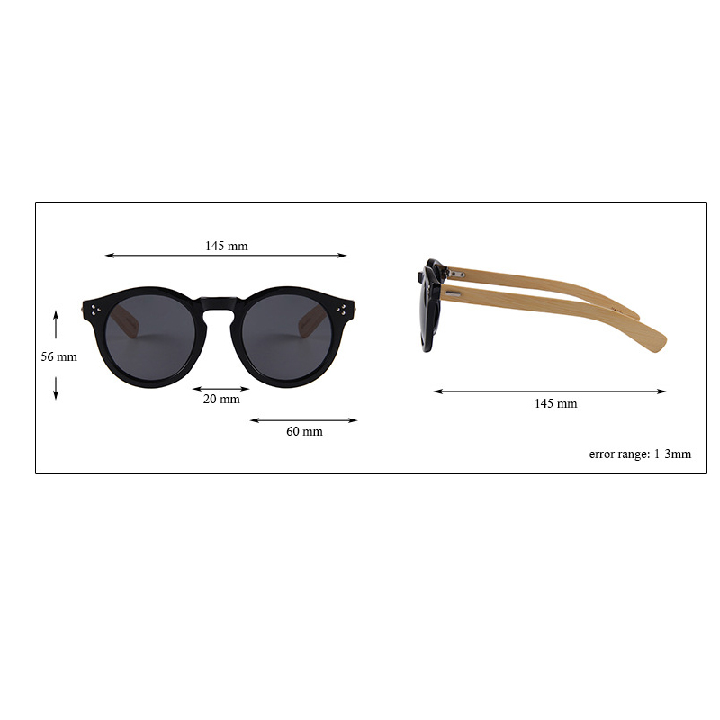 Cheap wholesale custom logo bamboo frame sunglasses for men and ladies