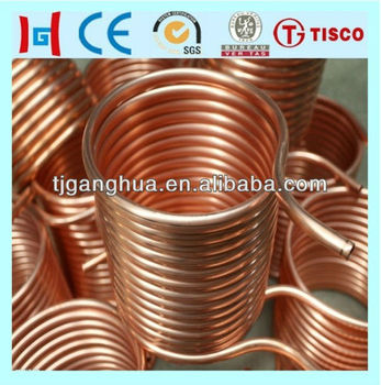 Air conditioner copper pipe tube roll price buy copper for Copper pipe cost
