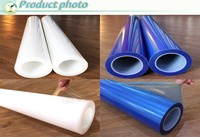 PE Plastic Clear/Blue Self Adhesive Perforated Window Film