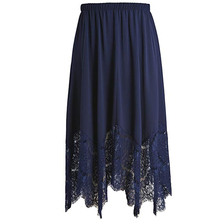 Women's Plus Size <strong>skirts</strong> women long Flare Lace Trimmed <strong>Skirt</strong> with Elastic Waistband Size long <strong>skirts</strong> for women