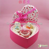 beautiful wedding gift cup cake towel with gift box packing