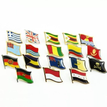 Custom hard enamel national flag lapel pins badges for Art & Collectible