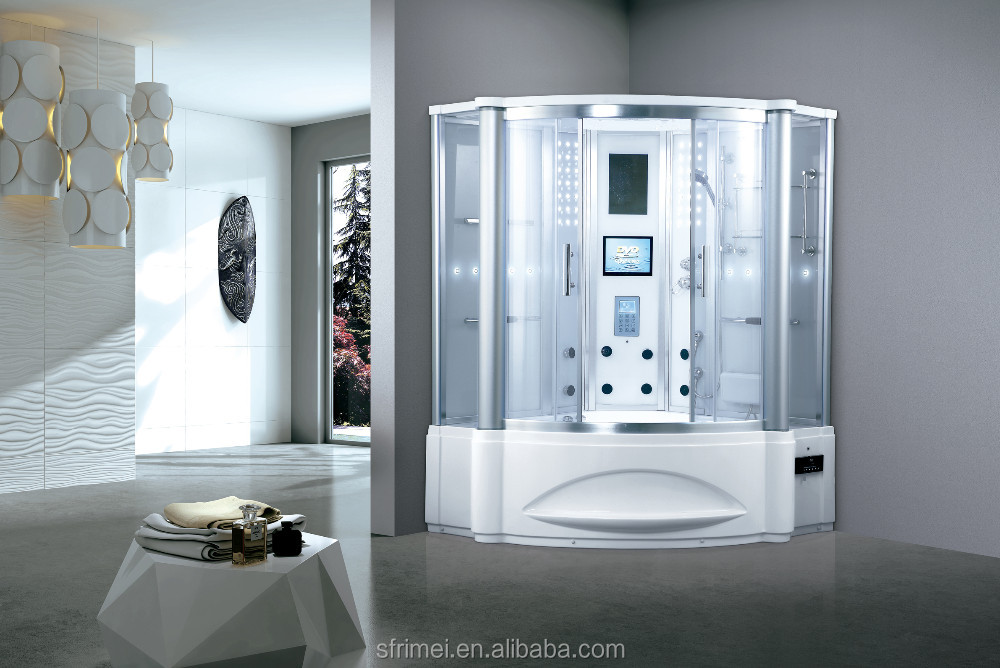 Luxury Steam Room With Whirlpool Tub Shower Cabin Shower Room K-7062B