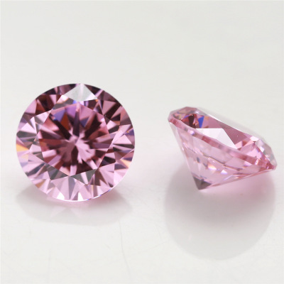 Moissanite diamond price per carat Pink moisssanite 1 carat 6.49mm top quality loose stones forever brilliant <strong>cut</strong>