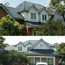 Top Selling Bamboo Uv-resistance Spanish style ASA Pvc Coated synthetic resin tiles roof