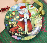 Large porcelain pizza plate, ceramic christmas cake plate,big round