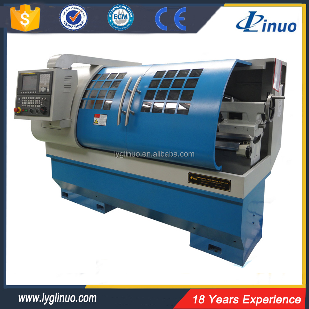 China flat bed automatic alloy wheel CK6140 cnc lathe machine