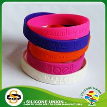 fashion logo debossed sports embossed silicone wristband debossed custom silicone bracelets