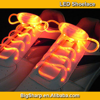 200pairs Hot Selling Custom Colorful Light Up Flashing Platube LED Shoelace For Party/Concert/Bar/Night Club/Promotion SL-003