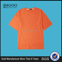 MGOO Wholesale Orange T shirt Unisex Half Sleeves Fashion Shirt Basic Plain Shirt