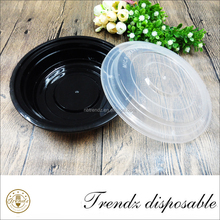 Black plastic microwave food container PP materials takeaway food container
