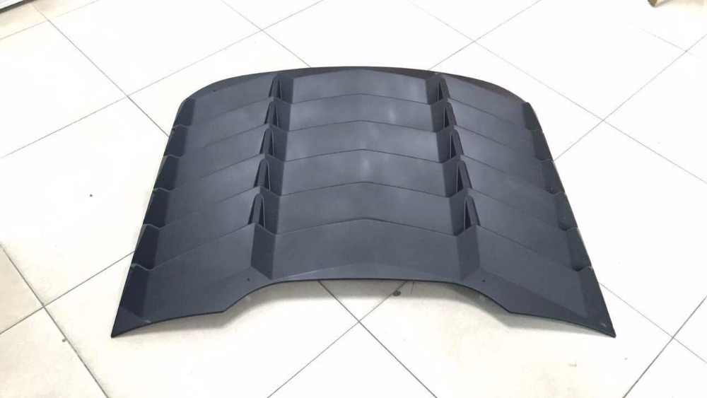 For 15 16 17 Rear Window Louver Matte Black Cover ABS