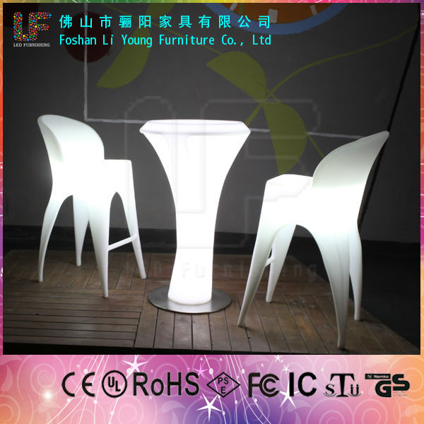cheap Modern Home outdoor furniture Patio high chairs illuminated plastic Bar Stool