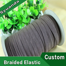Flat Polyester 6mm Braided Elastic for Garment