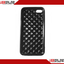 Drill stone glossy TPU soft rubber lining cases for iphone5c black
