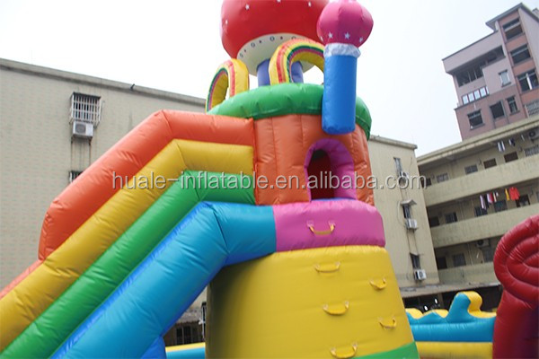 Commercial inflatable sea world amusement park bouncer castle for sale