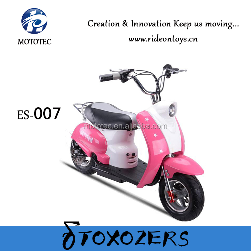 CE approved 350W 24V electric mini pocket bike for kids pink electric mini cross bike