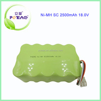 SC 2500mAh 15S1P 18v ni-mh battery pack for cordless drill