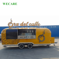 6M airstream trailer street mobile bbq burger food truck for sale europe