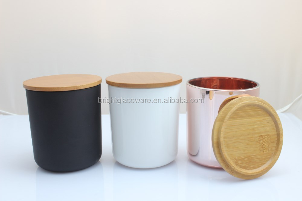 Candle Jar With Wooden Lid Bamboo Lid Glass Jar Candle Cup