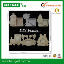children diy toy cartoon photo frame wooden DIY picture frame art