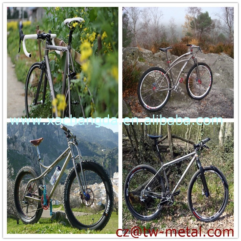 XACD customized Titanium tandem bicycle frame Ti tandem bike frame with post mount brake