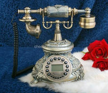 vintage rotary dial phone with caller id