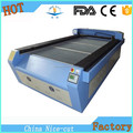 Cheap co2 automatic CNC double heads belt leather laser cutting machine 1325