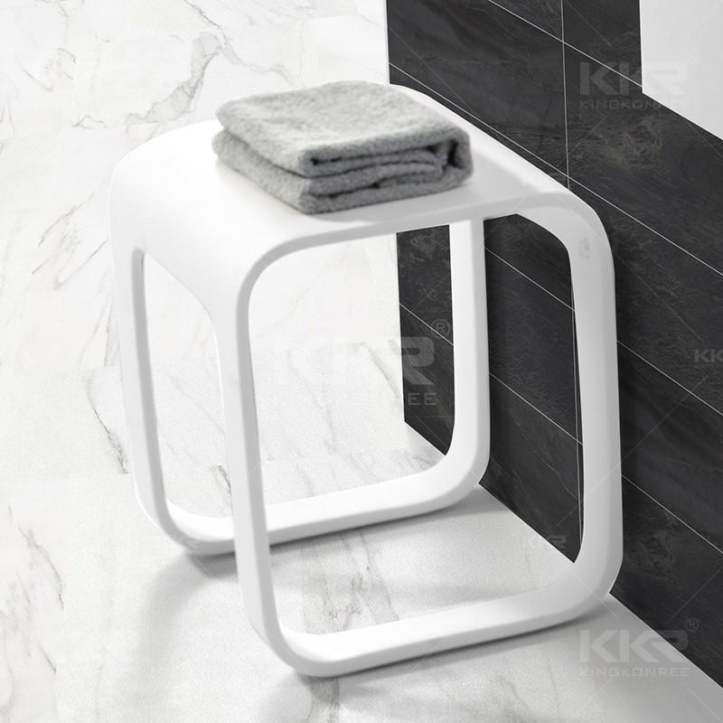 Artificial Stone Bathtub Stool , Bathroom Solid Surface Stool