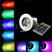 rgb round Fixture remote 1 watt recessed led mini downlight