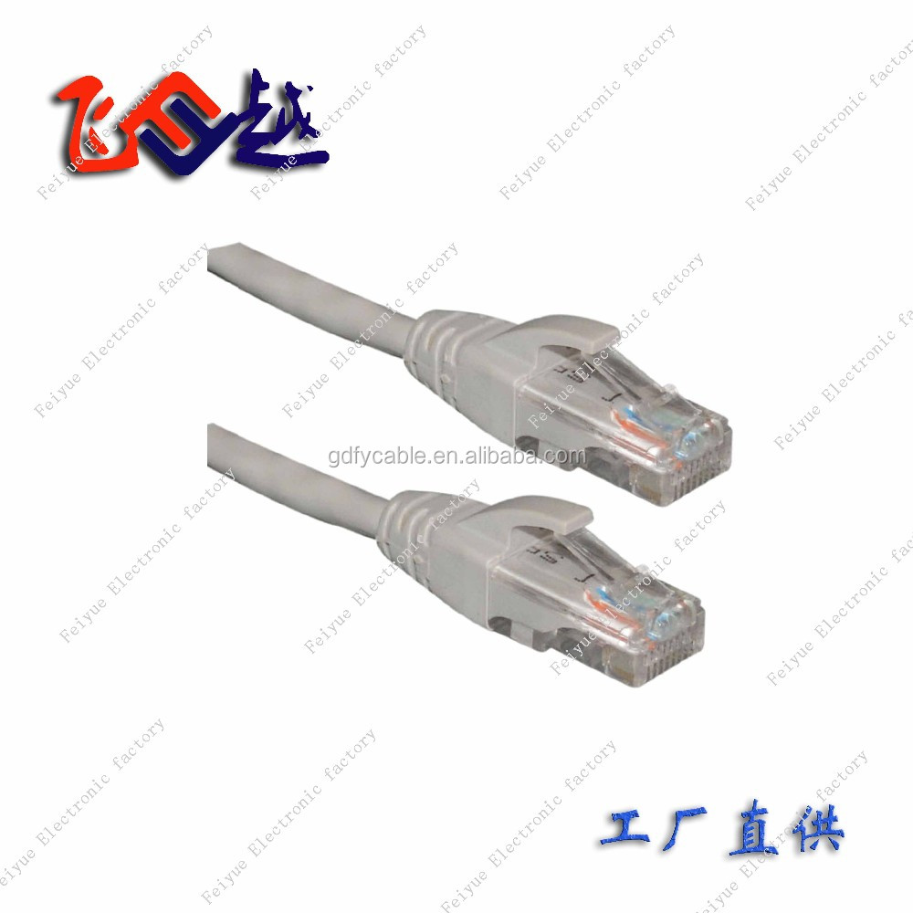 Lan patch cord RJ45 ethernet Cat5e/cat6 UTP network patch cable with pvc molded boot