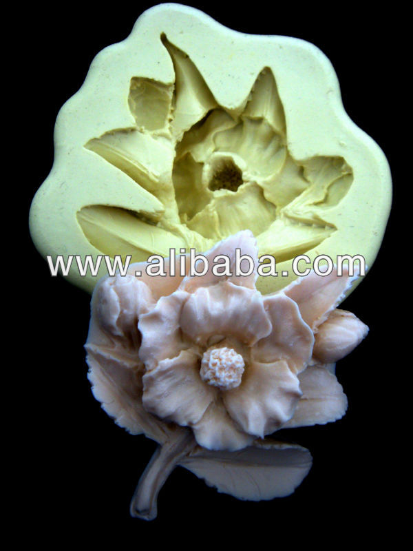 Sugarcraft silicone mold Fondant mould Flower#0002