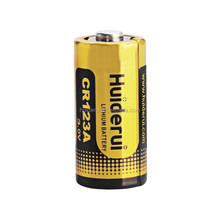 China manufacturer 3.0V 1600mAh CR123A Primary Lithium Metal lithium battery