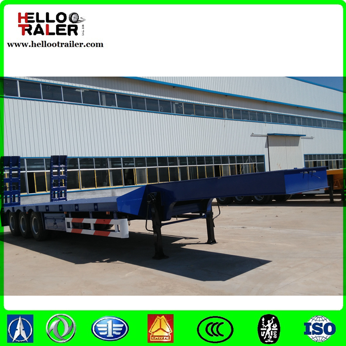 3 axles 12 wheeler low loader trailer, lowboy trailer for sale
