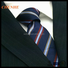 Stripe design polytster woven necktie made in China
