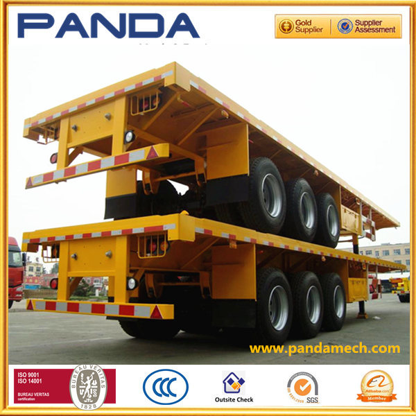 2015 new 3 axles flatbed/skeletal container semi trailer, flat track container