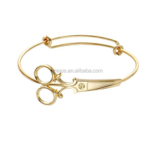 Fashion Expandable Hairdresser Scissor Bangle Bracelets Adjustable Classic Wiring Scissor Bracelet