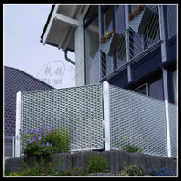 decorative punch hole expanded metal fence construction materials