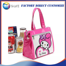 Fashion promotional freezable pvc cooler bag insulated school kids lunch bag