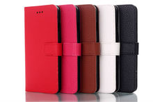 Flip Wallet Leather Case For Iphone6 With Credit Holder 5 colors stocks