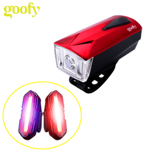 Hot sale USB rechargeable 100 lumens led bicycle rear light and headlamp combination bike wheel light LED bicycle Light